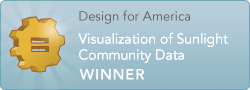 Design for America Winner: Visualization of Sunlight Community Data
